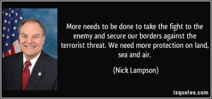 More needs to be done to take the fight to the enemy and secure our ...