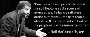 ... time people identified the god Neptune as the source of storm at sea