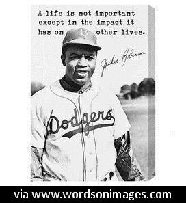 Quotes by jackie robinson
