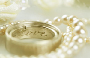 As far as wedding decisions are concerned, the rings are at the top of ...