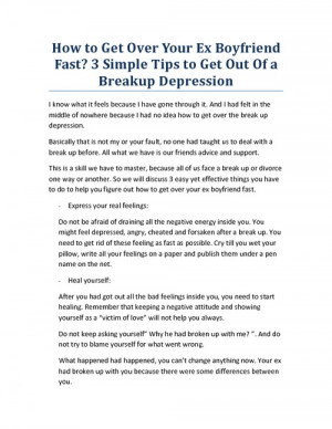 How to Get Over Your Ex Boyfriend Fast? 3 Simple Tips to Get Out Of a ...