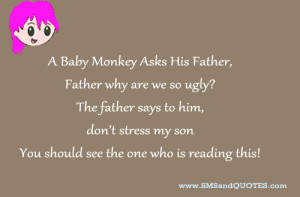 Baby Monkey Asks His Father