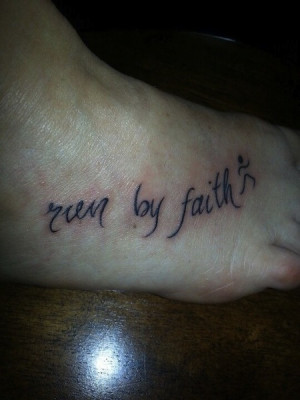 run by faith | quote tattoos | egodesigns