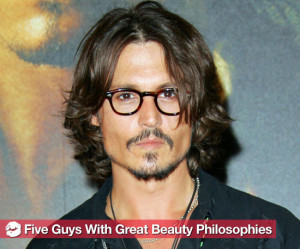 Smart Beauty Lessons From Good-Looking Men Including Johnny Depp and ...