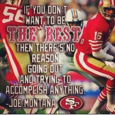 Heartwarming Joe Montana quote about football and life {Click thru for ...