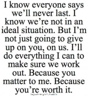 We're worth it