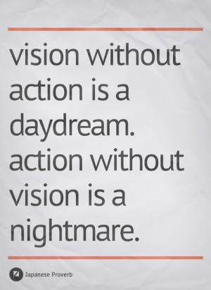 Motivational Image – Vision & Action