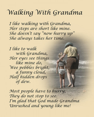 Walking With Grandma Photograph