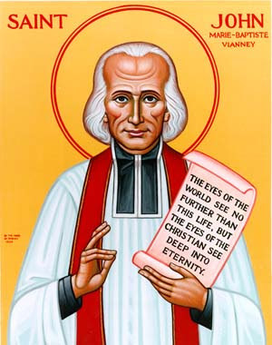 my patron saint for next year 2009 is st john vianney the cure d ars ...