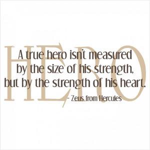 True Hero' Quote - Vinyl Quote Decal