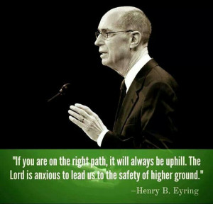 ... anxious to lead us to the safety of higher ground.
