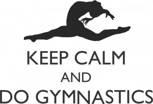Details about Keep Calm and Do Gymnastics Quote   Sports Wall Decal ...
