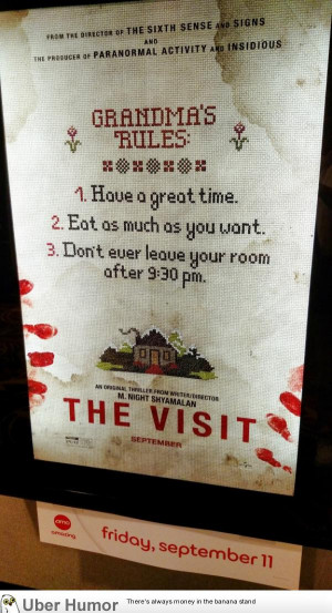 Teaser Poster for M. Night Shyamalan's 'The Visit'