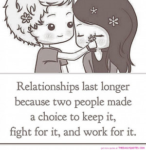... : Relationships Last Longer Quote And The Picture Of Cartoon Couple