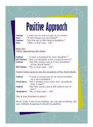 "Positive Approach""~ Management Quote"