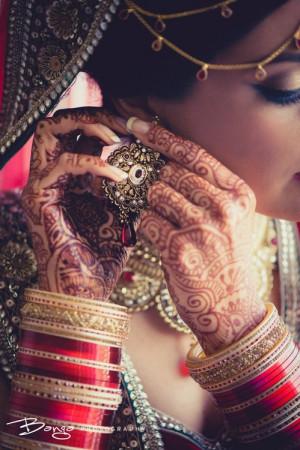 red fashion bride wedding groom sikh punjab indian fashion Punjabi ...