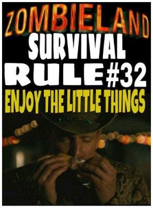 Zombieland Rules Quotes Zombie Face Attack Victim Picture