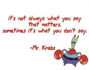Mr. Krabs: