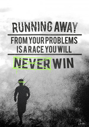 Inspirational Running Picture Quote