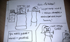 ... , this wife decided to welcome him home with the cutest cartoon ever