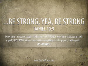 Daniel 10:9 – Be Strong Papel de Parede Imagem