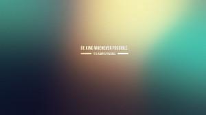 Kindness quote HD Wallpaper 1920x1080