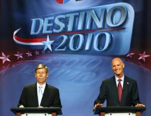 Barbs fly as Republicans Bill McCollum, Rick Scott debate in Miami for ...