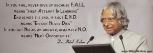 """If you fail, never give up because F.A.I.L. means """"first Attempt In ..."""