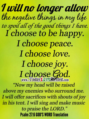 Bible Verses ♥ Psalm 27:6 GOD'S WORD Translation ♥ Now my head ...