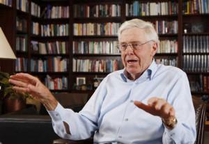 Charles Koch in his office at Koch headquarters in Wichita, Ks. (May ...