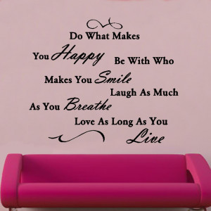 do what makes you happy quote vinyl wall art quotes symbols vinyl wall ...