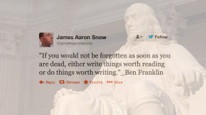 Benjamin Franklin Birthday Tweets