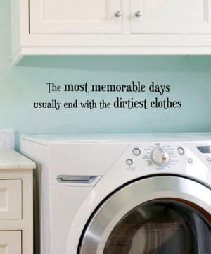 cute laundry room quote