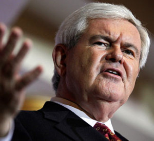 ... Newt Gingrich + Speaker of the House, gingrich, romney tied in