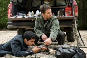 Michael Pena and Mark Wahlberg in