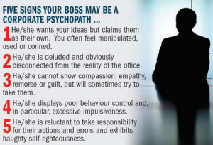 Beware the psycho boss, the new enemy within