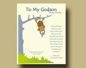 Gift for Godson Per sonalized gift for Godson Gift from Godmother