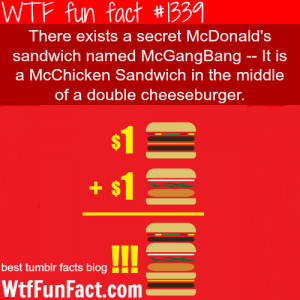 mcdonalds – sandwich McGangBang MORE OF WTF FUN FACTS are coming ...