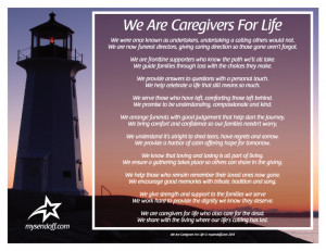 Acknowledging the compassionate caregiving that funeral professionals ...