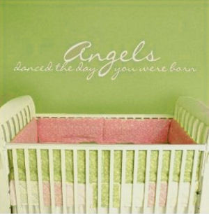 Baby Angel Wall Stickers, Decals and Quotes for the Nursery