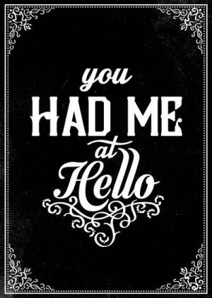 You Had me at Hello movie quote Postcard Jerry by peanutoak