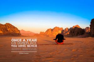 Once a year-Dalai Lama-