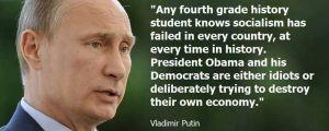 ... meme says Vladimir Putin accused Barack Obama of being an idiot