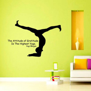 Quote The Attitude of Gtatitude Is The Highest Yoga by CozyDecal, $19 ...