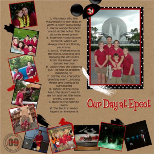 disney scrapbook page ideas challenge pages Page 049 jpg