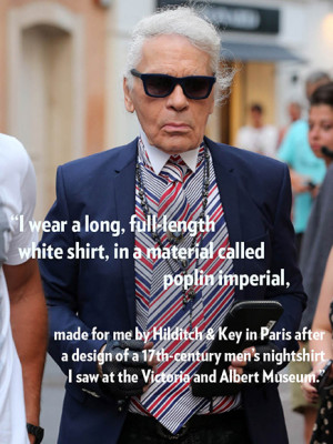 Karl Lagergeld's Best Quotes, Karl Lagerfeld Chanel : People.com