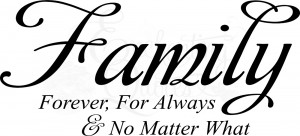 Forever, For Always Wall Quote Decal