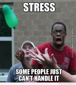 Funny Pictures - Stress some people just can't handle it