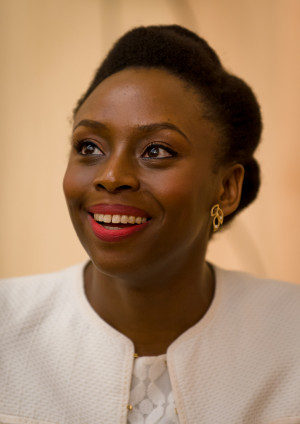 Author Chimamanda Ngozi Adichie at the Howard County Library System's ...