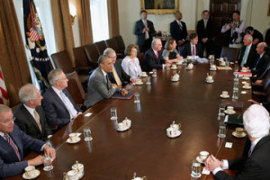 John Cornyn Barack Obama Meets with Members of Congress